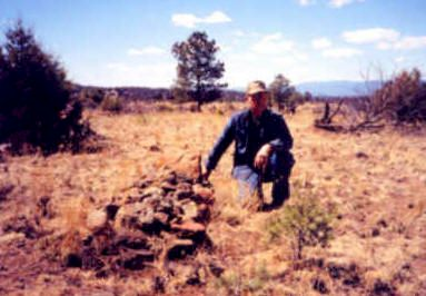 Buffalo Soldiers Grave. Old Fort Tularosa, (Aragon) New Mexico, Catron County, New Mexico